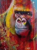 Kits de animales monos pintura al leo por nmeros para adultos pinturas por nmeros pintura en lienzo regalo DIY decoracin del hogar A5 45x60cm