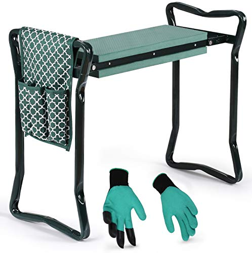 Garden Kneeler And Seat - Protects Your Knees, Clothes From Dirt &...