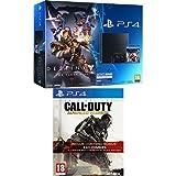 Contenu : Pack PS4 500 Go C Noire + Destiny : Le Roi Des Corrompus Call of Duty : Advanced Warfare - édition gold