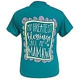 Girlie Girl Mamaw Blessings Short Sleeve T-Shirt (Medium) (Medium)
