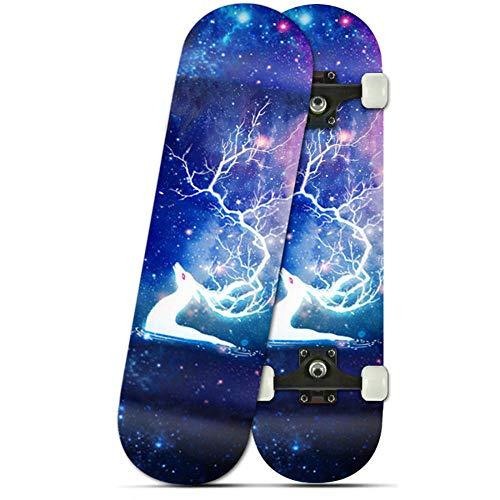 YSCYLY Standard Skateboard,Scooter a Quattro Ruote 72 * 20 cm,per Principiante Bambini, Giovani E...