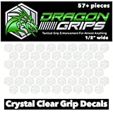 Dragon Grips Clear Non Slip Hexagon Decal Sticker 57 Pieces Cell Phones Phone Cases Gaming Controller Mouse Laptop Tools Wrenches Knives Crafting Scrapbooking Sewing rulers Personal Care Items
