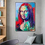 wZUN Carteles e Impresiones Coloridos Pintura Mural sobre Lienzo Pintura Famosa Sala de Estar decoración del hogar Pintura 50x70 cm