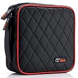 CCidea 40 Capacity CD/DVD Case Holder Portable Disc Wallet Storage Binder Nylon Cd Bag (Black)...