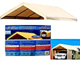 Costco Heavy Duty Roof Cover Top Replacement for Carport Canopy Shelter Canvas 10' x 20' feet Waterproof/UV-Resistant (Cover Only, Frame Not Included) Car Port