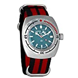 Brand new 2018 Vostok Komandirskie 200WR model Watch of official supplier of the Defense Department of the Soviet Union 200 m (20 Bar) Water Resistant Dimensions: approx. 41mm x 48mm, lug size - 22mm. Acrylic glass Vostok 2416B automatic self-winding...
