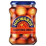 A must with salads or fish and chips or on their own as a tasty snack Haywards traditional style onions Imported from England Unique British taste Crunchy onions pickled in malt vinegar