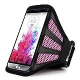 for LG G3 Armband Sumaclife Running Sports Mesh Armband for LG G3, Black, Pink