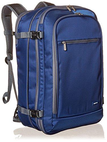 Amazon Basics Carry-On Travel Backpack - Navy Blue