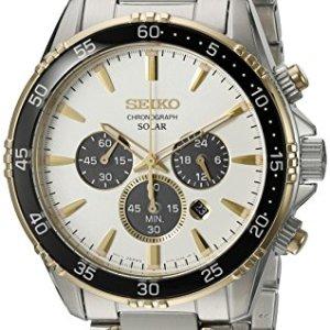 Seiko Men's 'Chronograph' Quartz Stainless Steel Dress Watch (Model: SSC446) 18