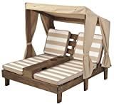 KidKraft Double Chaise Lounge with Cup Holders, 36.5 x 33.4 x 35.1, Espresso, Model:00534
