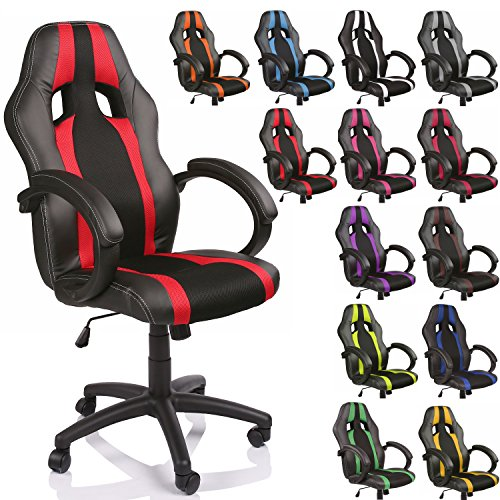 Tresko Sillón de oficina Racer, clase de lujo–Disponible en diferentes colores