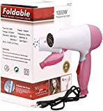 TECHICON NV-1290 Professional Foldable Hair Dryer 1000W For Women (Multicolor)