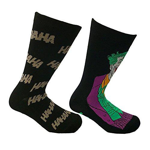 DC Comics Mens Socks 2-Pack Joker