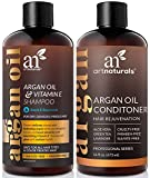 ArtNaturals Moroccan Argan Oil Hair Loss Shampoo & Conditioner Set - (2 x 16 Fl Oz / 473ml) - Sulfate Free Hair Regrowth - Treatment for Hair Loss, Thinning Hair & Hair Growth, Men & Women
