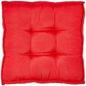 Futon alto 45x45 gorgurão liso vermelho proxima textil vermelho