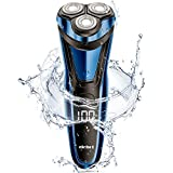 ELEHOT Electric Razor for Men, Rotary Electric Shaver with Pop-up Beard Trimmer, Digital Display, Rechargeable Cordless (Blue)