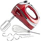 VonShef RED 250W Hand Mixer Whisk...