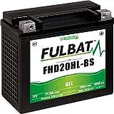 Fulbat - Batterie moto YHD20HL-BS étanche au Gel 12V / 20Ah spécial Harley