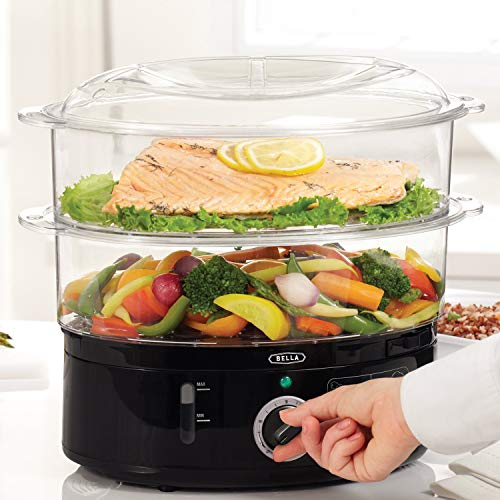 BELLA (13872) 7.4 Quart Healthy Food Steamer with 2-Tier...