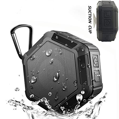KEROLFFU Mini Shower Bluetooth Speaker 5Watt,Rich Enhanced Bass,Louder HD Sound, Outdoor Sport IPX5 Waterproof