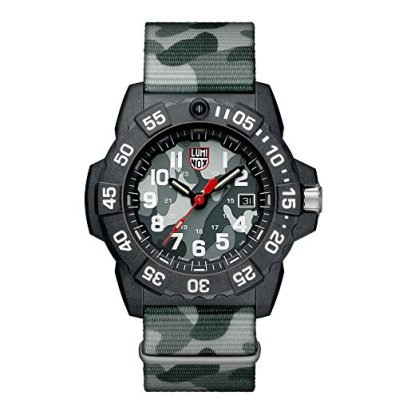 Luminox Men's SEA Stainless Steel Swiss-Quartz Watch with Nylon Strap, Grey, 24 (Model: 3507.PH)