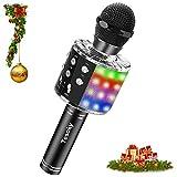 Tesoky Microphone sans Fil Bluetooth LED Lampe Coloré Dynamique,4 en 1 Portable...