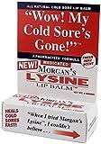 Morgan's Lysine Lip Balm, 0.14 oz Per Tube (4 Tubes)