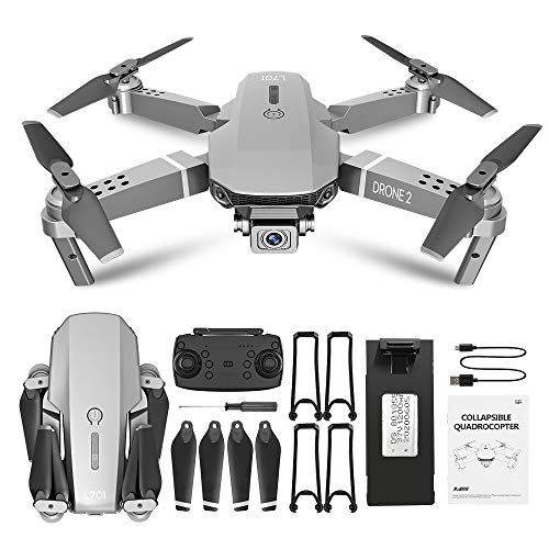 Greaked L701 Telecomando Drone Grandangolare 4 K 720 P 1080 P HD Camera Quadcopter Pieghevole WiFi FPV Quattro assi Altitudine Tenere VS E68 1080 P Borsa di immagazzinaggio