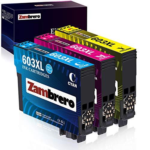 Zambrero 603XL Colore Cartucce Sostituzione per Epson 603 XL 603XL Cartucce per Epson Expression...