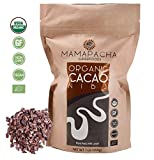 Raw Cacao Nibs Organic Unsweetened - Premium Peruvian Cacao nibs 1lb - From Aromatic and Criollo Cocoa Beans - USDA Certified Organic - Cacao nibs Vegan - Keto Snack