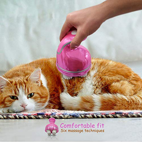Triumilynn Cat Head Massager Pet Intelligent Charging Massager USB 3D Head Massager for Cats and Dogs