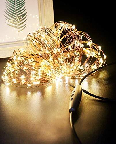 Stringa Luci LED USB, Litogo 24M 240 LED Dimmerabile Catena Luminosa Filo Rame Ghirlanda Luminosa...