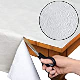 Quilted Heavy Duty Table Pad Protector With Flannel Backing - Cut To Fit - 52' x 108'