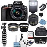 Nikon D3500 24.2MP DSLR Camera + AF-P DX 18-55mm VR NIKKOR Lens Kit + Accessory Bundle + Extreme...