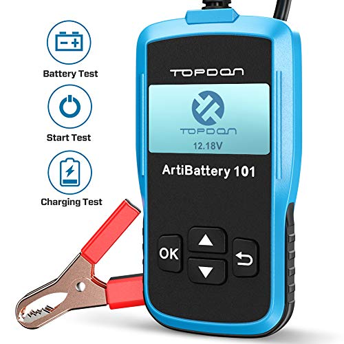 TT TOPDON AB101 Car Battery Tester 12v on Cranking Charging System and Battery Load 100-2000 CCA...