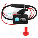 12V Ant - 208 Car Radio FM AM Antenna Signal Amplifier Booster for Marine Car Boat RV