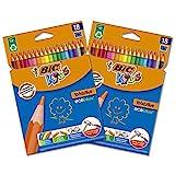 BIC Ecriture Kids Evolution ECOlutions Crayons de Couleur - Couleurs...