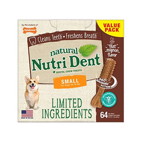 Nylabone Nutri Dent Filet Mignon Flavored Dog...