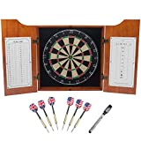 GSE Games & Sports Expert Solid Wood Dartboard Cabinet...