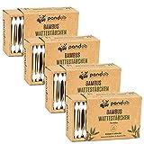 pandoo Paquet de 4 bâtonnets de coton bébé en bambou - 100%...