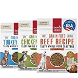 Stock Your Home Grain Free Whole Food Clusters Pet Food Variety Pack (3, 1 lb Bags) 1 Cage Free Chicken, 1 Cage Free Turkey, 1 Ranch Raised Beef - by The Honest Kitchen
