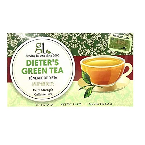 Dieter's Green Tea (Extra Strength) (20 Tea Bags) 4-Pack…
