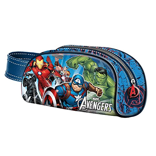 The Avengers Powerful-Book Federmppchen Astuccio, Blu, poliestere