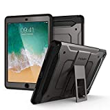 Spigen Tough Armor TECH with Custom-Fit Tempered Glass Designed for iPad 9.7 Case iPad Case (2017/2018) - Gunmetal