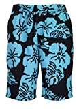 bugatti - Short Hommes Modernes Nager avec Motif Floral en Noir/Jade, Taille 4XL