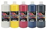 Createx Colors 32oz. Acrylic Primary Set (5 Colors), 32 oz