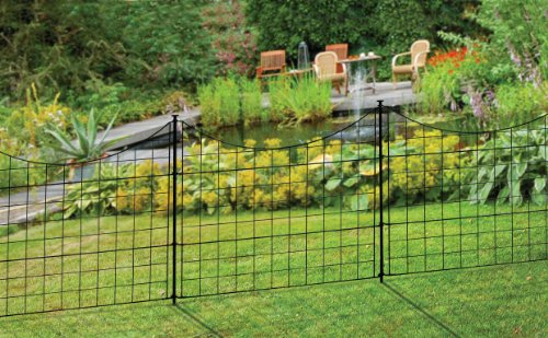 Zippity Outdoor Products WF29001 Garden Metal Fence, 147.5' x 25',...