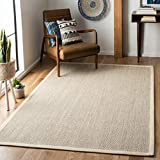 Safavieh Natural Fiber Collection NF143C Marble and Beige Sisal Area Rug (8' x 10')