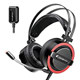 ABKONCORE CH713M Gaming Headset Esport with 7.1 Sound Card, Gaming Headphones for PS4, PC,...